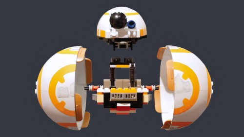 Making of a Tiny Rolling BB-8 with just Lego blocks- by a fellow Star Wars fan.