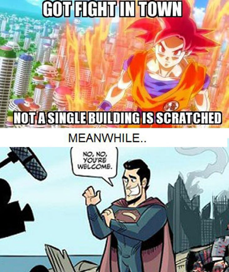 25 crazy goku vs superman memes which might cause laugh riots