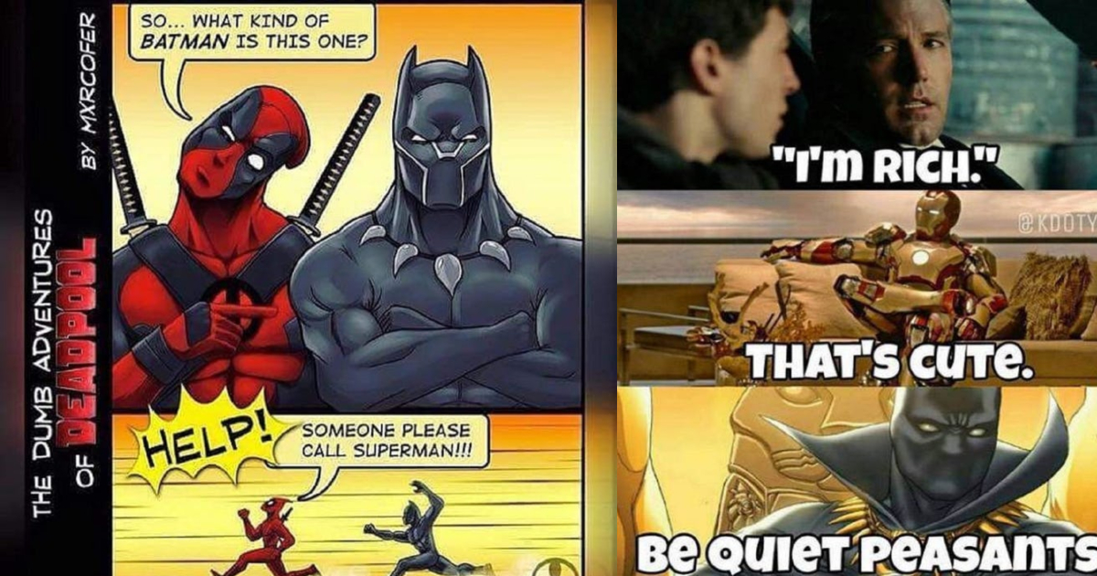 batman memes vs panther fans sides marvel take coffee meme compell collage geeksoncoffee