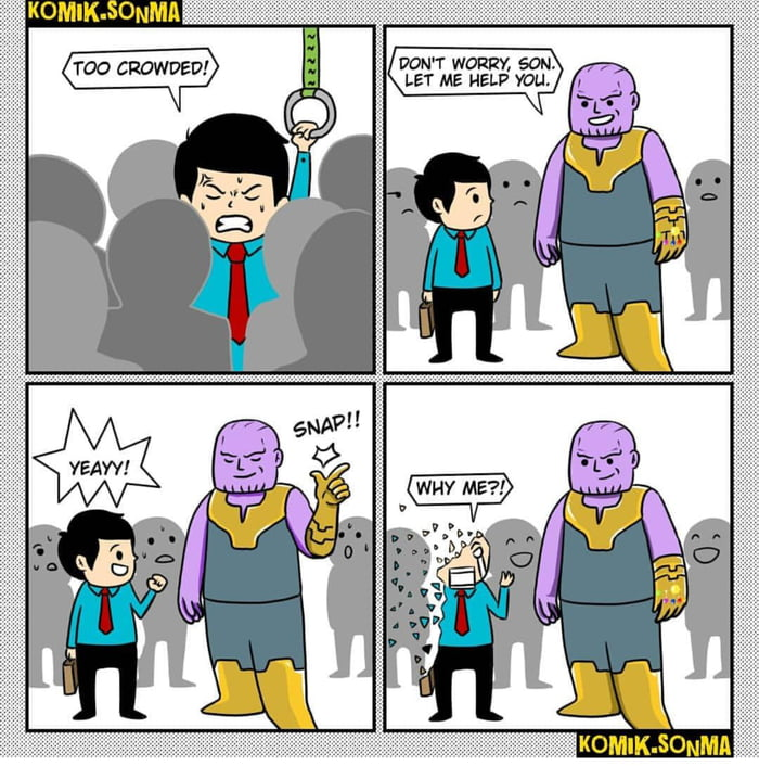 30 Absolutely Brutal Thanos Snap Memes Which Only True ...