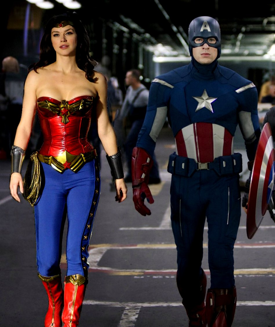 26 Fantastic Fanart Images Featuring Captain America With Wonder Woman | GEEKS ON COFFEE