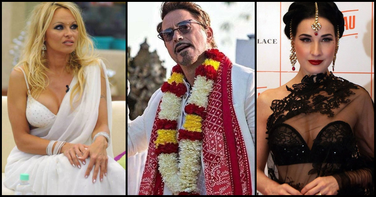 ad303ab45f 30 Times When Hollywood Stars Dazzled In Indian Traditional Dresses ...