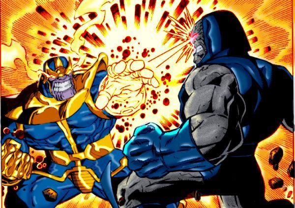 Darkseid with the Infinity Gauntlet in a Marvel/DC ... |Darkseid Infinity Gauntlet
