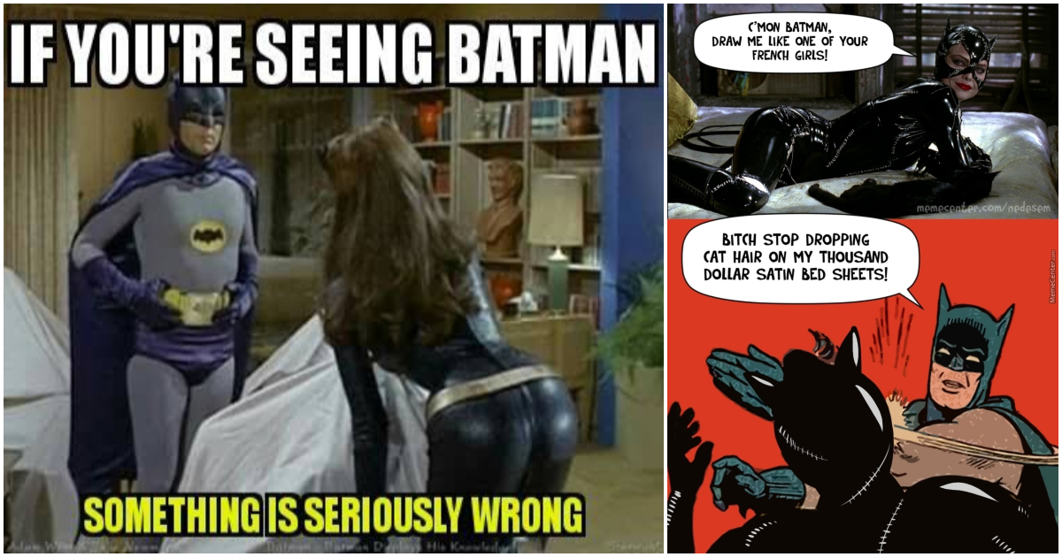 batman memes catwoman laughing roll floor uncontrollably funny coffee epic laugh november geeksoncoffee cry through