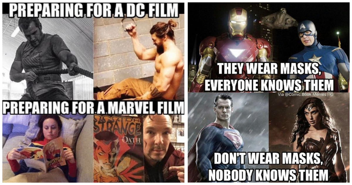 20 Crazily Funny Justice League Vs Avengers Memes Which Show Why