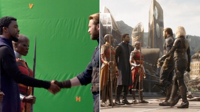 35 Shocking Avengers: Infinity War Set Images Before The VFX