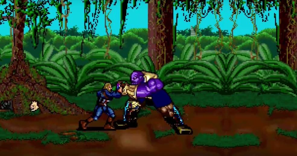 This 16-Bit Version Of Thanos' Snap Will Leave Your Heart In