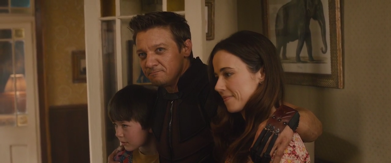 Image result for hawkeye with his family