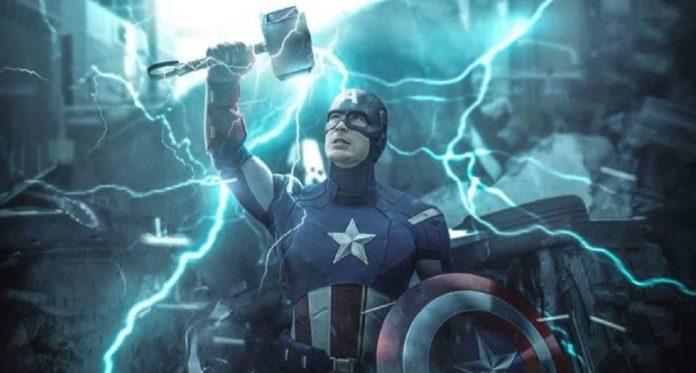 Captain America Mjolnir Scene Endgame