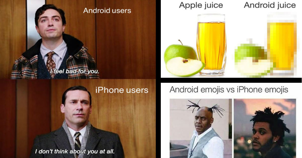 120+ Funny iPhone Vs Android Memes Showcase The Smartphone