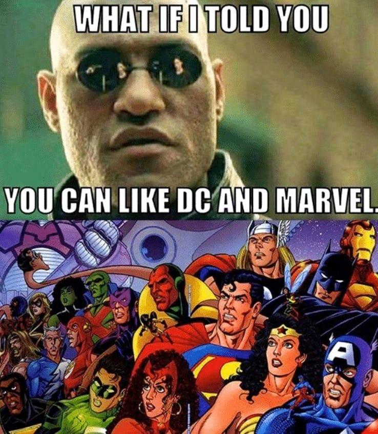 amusing DC VS MARVEL Memes