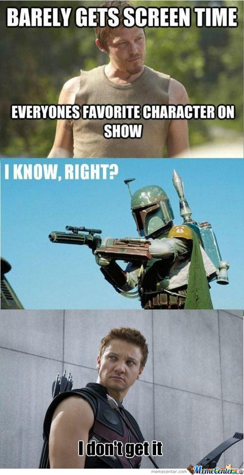amusing Hawkeye meme