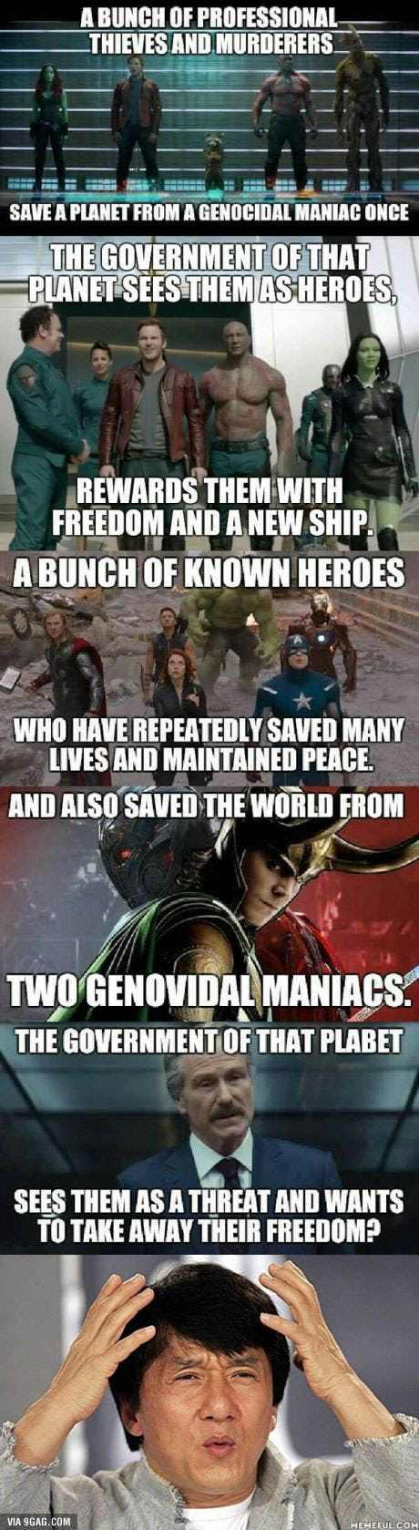 animated Avengers meme