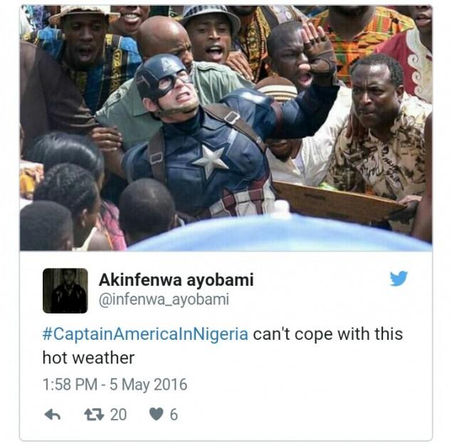 cheerful Captain America meme