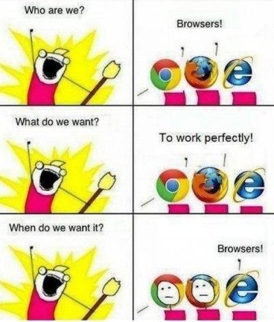 cheerful Internet explorer meme