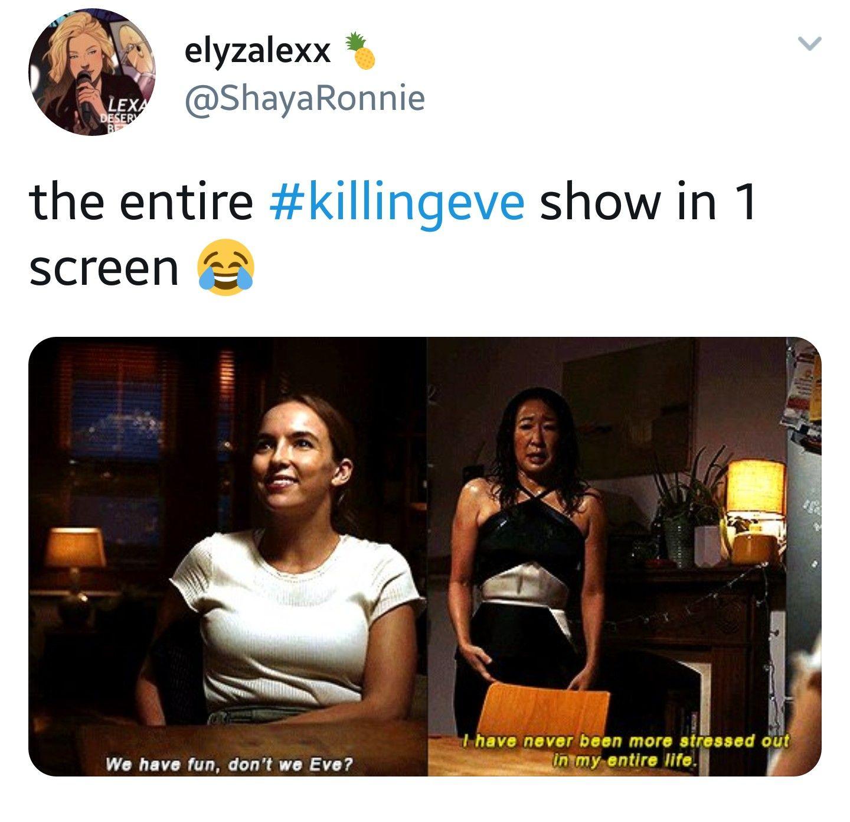 cheerful Killing eve memes