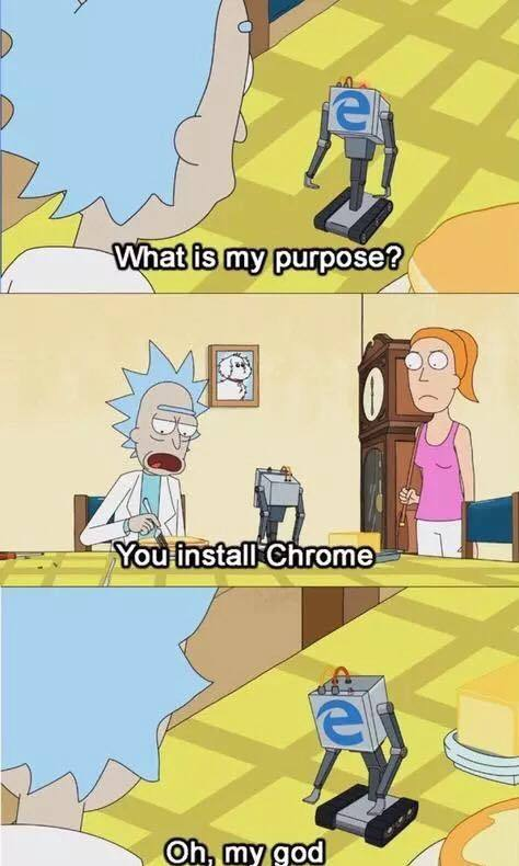 chucklesome Internet explorer meme