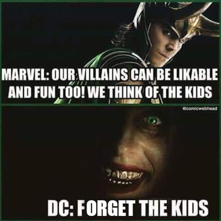 comical DC VS MARVEL Memes