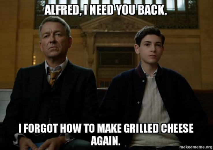 entertaining Gotham memes