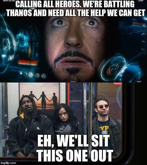 high-spirited Avengers meme