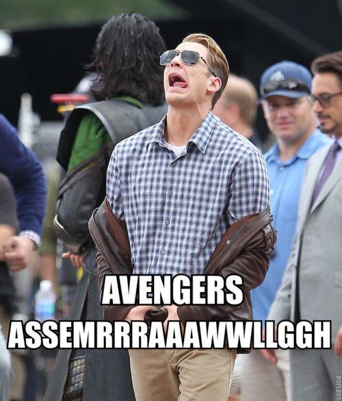 high-spirited Captain America meme
