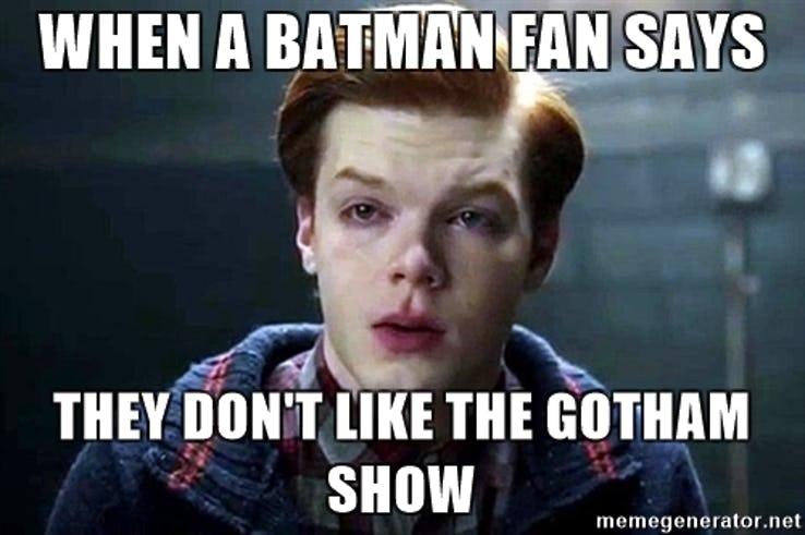 high-spirited Gotham memes