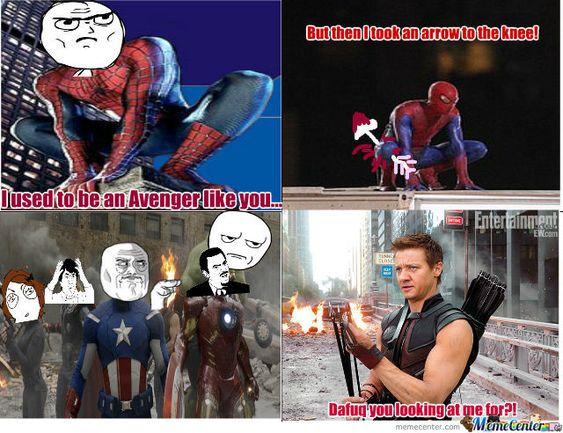 high-spirited Hawkeye meme