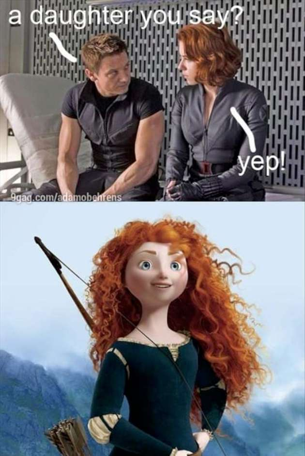 humorous Black Widow meme