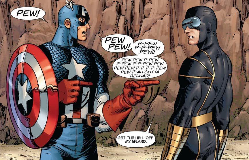 humorous Captain America meme