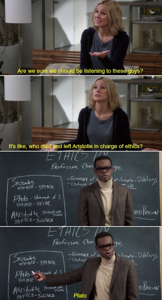humorous The good place series memes