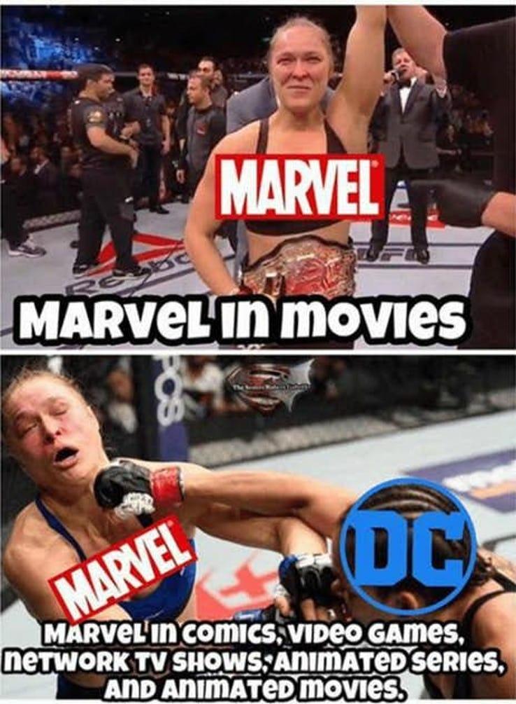 lively DC VS MARVEL Memes