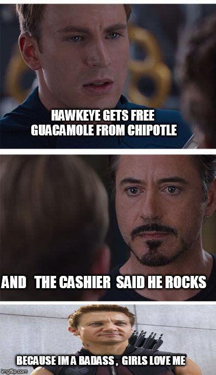rib-tickling Hawkeye meme