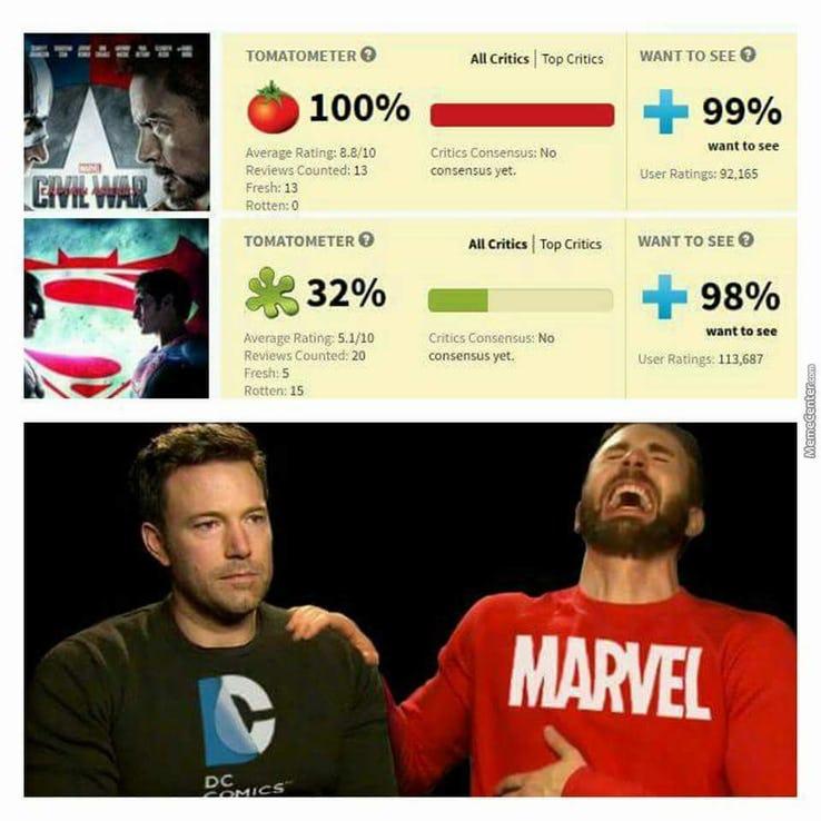 sparkling DC VS MARVEL Memes