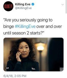 sparkling Killing eve memes