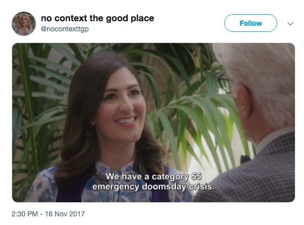 sparkling The good place series memes