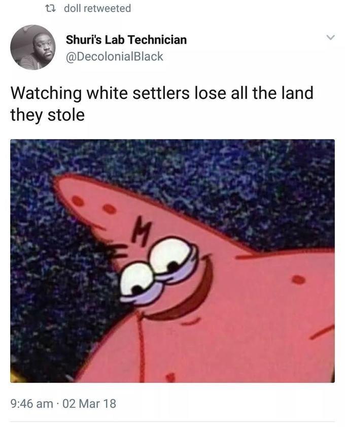Funny Evil patrick meme