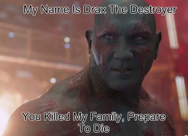 animated Drax memes