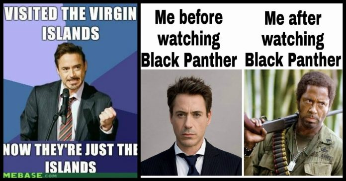 cheerful Robert Downey Jr. Memes