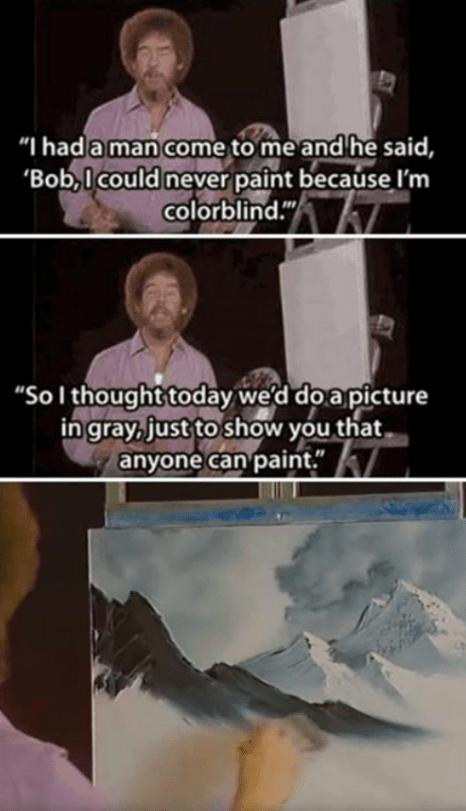 cheerful bob ross memes