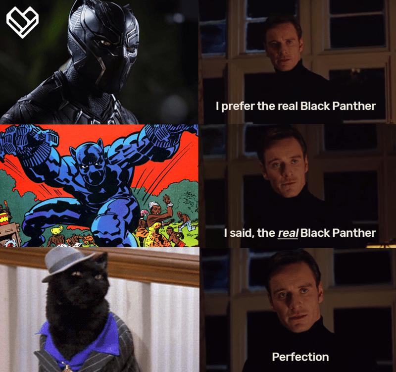 comical Black panther memes
