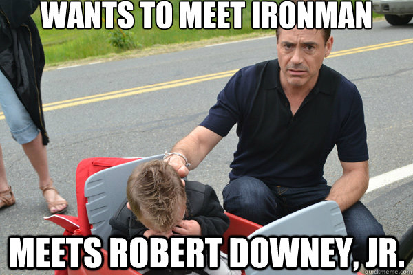 comical Robert Downey Jr. Memes