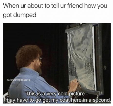 high-spirited bob ross memes