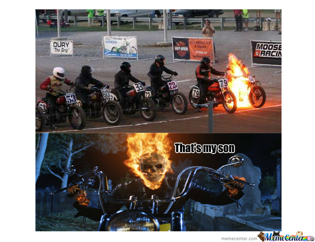 high-spirited ghost rider memes