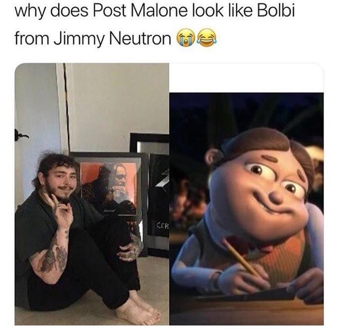 humorous Post malone memes