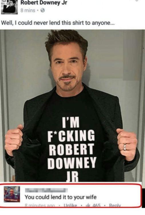 humorous Robert Downey Jr. Memes