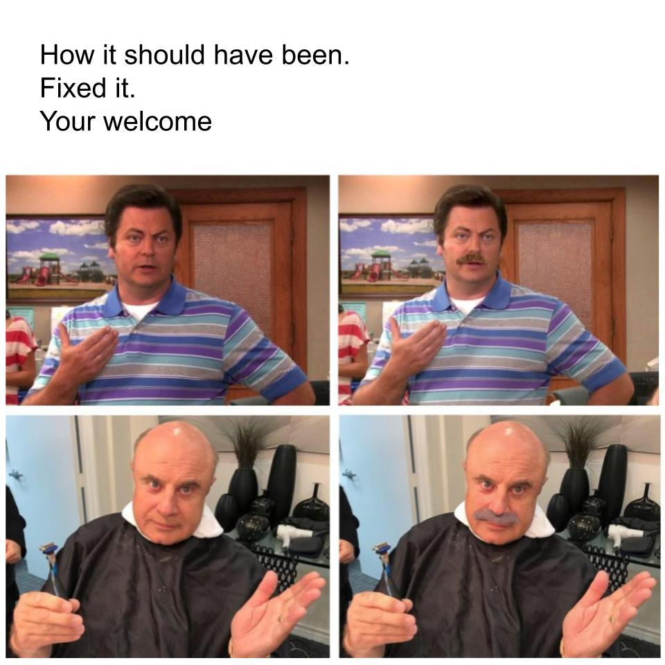 humorous Ron swanson memes