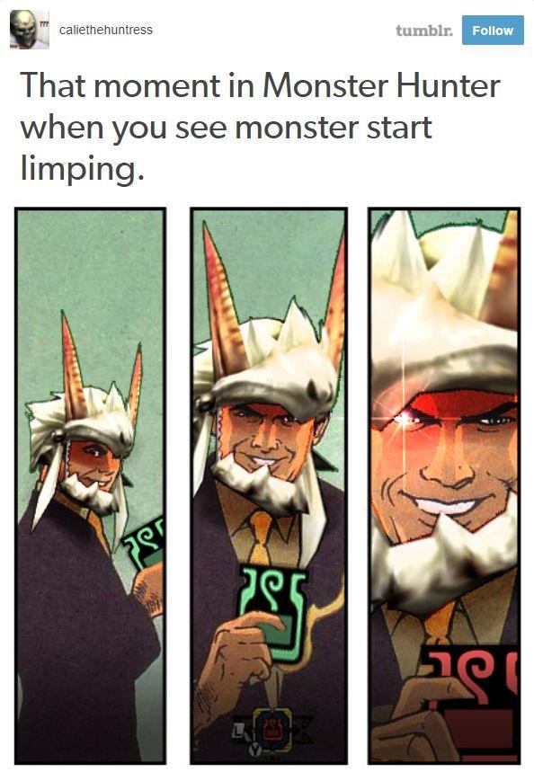 laughable monster hunter memes