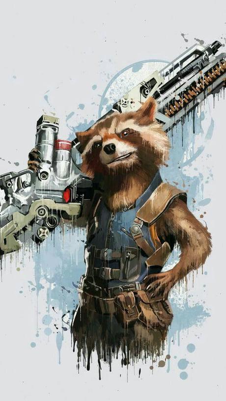 rib-tickling Rocket raccoon memes