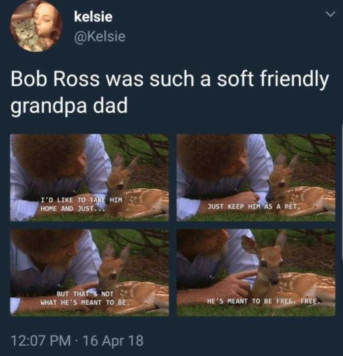 sparkling bob ross memes