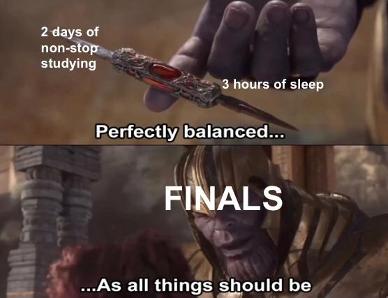 amusing finals memes